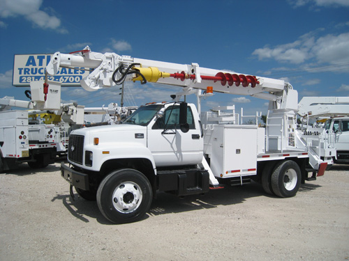 Digger Truck D7380on Bucket Boom Truck